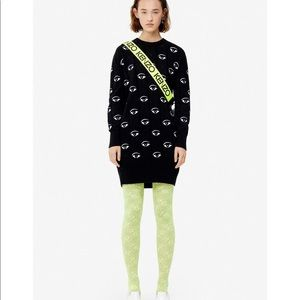 Kenzo Knitted Multi-eye Sweater Dress Jumper Small